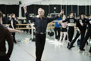 Peter Martins, the leader of the New York City Ballet, during a rehearsal in Copenhagen, Denmark.