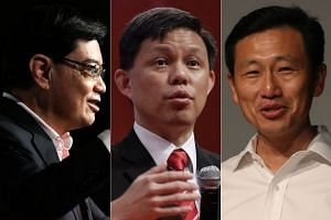 Many believe the race for the prime minister's post has narrowed to three contenders: Finance Minister Heng Swee Keat, Minister in the Prime Minister's Office Chan Chun Sing and Minister for Education (Higher Education and Skills) Ong Ye Kung.