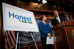 US senators have proposed an Honest Ads Act, which requires people who take out political advertisements on television, radio or print to disclose who funded them.