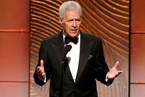 Jeopardy television game show host Alex Trebek speaks on stage during the 40th annual Daytime Emmy Awards in Beverly Hills, California June 16, 2013.