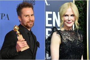 Sam Rockwell who won the Golden Globe for best supporting actor and Nicole Kidman who won best actress in a television movie or miniseries.