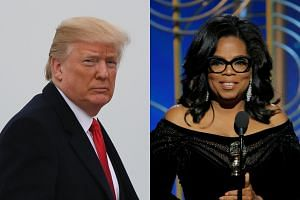 A White House spokesman said US President Donald Trump (left) would gladly face Oprah Winfrey as an opponent in the next presidential race.