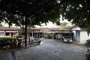 Madam Chung Khin Chun's bungalow in Gerald Crescent sits on a plot of land that is about the size of half a football field. The bulk of the proceeds from the upcoming land sale would go to charity, said Madam Chung's niece.