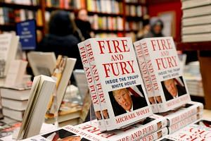 Copies of the book Fire And Fury: Inside The Trump White House by author Michael Wolff are seen at the Book Culture book store in New York.