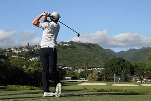 Cameron Smith of Australia plays his shot from the seventh tee during round two of the Sony Open.
