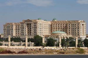 The Ritz-Carlton hotel in the diplomatic quarter of Riyadh, Saudi Arabia.