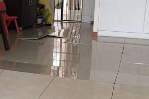 The Straits Times had previously reported about a spate of popped tiles in flats across the island, in areas like Sengkang, Woodlands, Bukit Panjang, Toa Payoh and Jurong West.