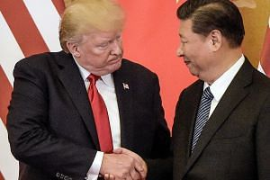 US President Donald Trump and his Chinese counterpart Xi Jinping meeting last November. If the Trump administration imposes trade sanctions against China, Beijing will almost certainly retaliate, says the writer.