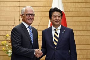 Australian Prime Minister Malcolm Turnbull is on a one-day visit to Japan.