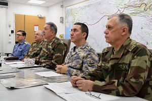 Leaders of the Turkish Armed Forces discussing the operation in Ankara.