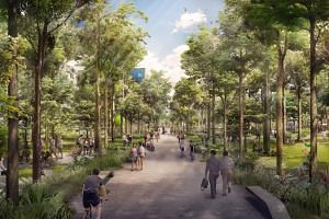 The 1.3km heritage trail will link Punggol Waterway Park to the Punggol Point waterfront. Besides more pedestrian paths, the roads and public transport network will also be improved.