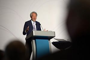 Deputy Prime Minister Teo Chee Hean speaking at the IPS Singapore Perspectives 2018 forum on Monday (Jan 22).