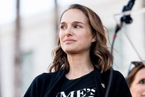 Actress Natalie Portman at the women's march Los Angeles in Los Angeles, California, US, on Jan 20, 2018.
