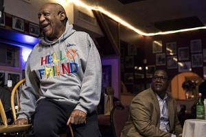 Comedian Bill Cosby makes an appearance at the La Rose jazz club in Philadelphia, Pennsylvania on Jan 22, 2018.