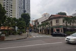 The Craig Road-Tanjong Pagar Road junction where a 17-minute flash flood occurred on Jan 24.
