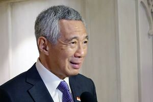 PM Lee gives his media wrap-up at the sidelines of the Asean-India Commemorative Summit.