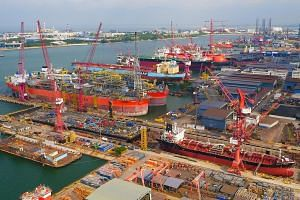 Keppel Shipyard in Singapore. Keppel said the weaker quarterly showing was also due to poorer operating results from its offshore and marine division, although partially offset by higher profits from Singapore property trading as well as fair value g