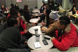 Undocumented workers from Malaysia speaking during an interview with The Korea Herald.
