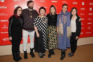 (From left) Producer Jessica Levin, songwriter Quinn Walker, associate producer Jasmine Ng, director Sandi Tan, associate producer Sophia Siddique Harvey and director of photography Iris Ng attend the premier of Shirkers at the 2018 Sundance Film Fes