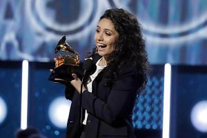 Alessia Cara accepts the Best New Artist award at the 60th Annual Grammy Awards in New York, US, on Jan 28, 2018.