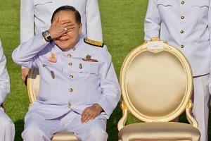 A luxury watch is seen on the wrist of the Thai junta's No. 2 man Prawit Wongsuwan, on Dec 4, 2017.