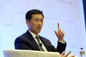 Second Minister for Defence Ong Ye Kung speaking at the 6th IISS Fullerton Forum: The Shangri-La Dialogue (SLD) Sherpa Meeting on Jan 29, 2018.