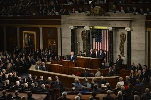 President Donald Trump during his State of the Union address in the House Chamber of the US Capitol in Washington, DC.