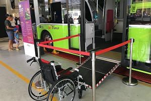 Bus captains can deploy the automatic ramp using a button near the exit door. Some commuters feel the button should be placed at the driver's cabin so he would not have to get out of his seat to deploy the ramp.