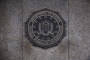 The Federal Bureau of Investigation seal is displayed outside FBI headquarters in Washington, D.C., on Feb. 2, 2018.