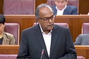 """Home Affairs and Law Minister K. Shanmugam told Parliament that the Government believes the sentences in the City Harvest case are """"too low""""."""