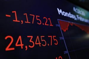 The Dow Jones Industrial Average on Monday tumbled almost 1,600 at its lowest point - its biggest intra-day point decline in history.