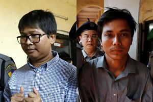 Wa Lone (left) and Kyaw Soe Oo had worked on Reuters coverage of a crisis in Rakhine state.
