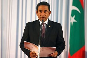 The government in Maldives accused the country's Supreme Court of trying to impeach President Yameen Abdul Gayoom (above).