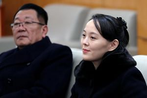North Korean leader Kim Jong Un's younger sister Kim Yo Jong sits in a meeting room in Incheon, South Korea on Feb 9, 2018.