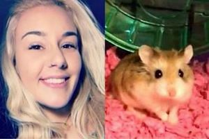 Belen Aldecosea (left) flushed her hamster, Pebbles, down the toilet when she found she could not take the animal on board.
