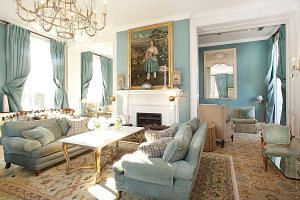The drawing room of the Summer Lodge Country House Hotel, Restaurant and Spa in Dorset.