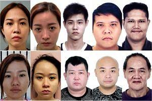 (Clockwise from top left) Nguyen Thi Kim Pha, Ho Thi Be Ba, Choy Yong Hui Elvison, Wong Kean Mun, Chan Teng Seng, Kang Ah Hock, Adrian Kin Zheng Keat, Liu Jianwei Andrew, Vo Thi Ngoc Thao and Nguyen Thi Bich Dan.