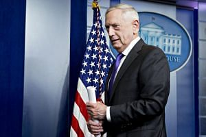 Jim Mattis, US secretary of defense, walks out after speaking during a White House press briefing in Washington, DC, US on Feb 7, 2018.