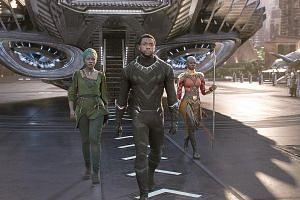 Black Panther stars (from left) Lupita Nyong'o, Chadwick Boseman and Danai Gurira.