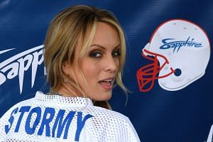 Trump's long-time aide and special counsel Michael Cohen refused to say why he paid actress Stormy Daniels (above).