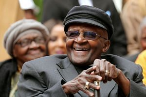 Tutu at a birthday event in his honour in Cape Town, South Africa, in October 2017.