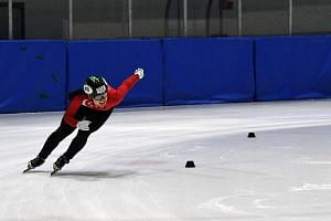 Cheyenne Goh training at the Goyang Eoullimnuri Ice Rink in preparation for her 1,500m race on Feb 17 at the Pyeongchang Winter Olympic Games.