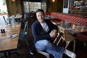 Celebrity chef Jamie Oliver at his restaurant, Jamie's Italian, in VivoCity in 2014.