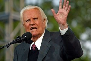 Well-known US evangelist Billy Graham died at his home in North Carolina aged 99, on Feb 21, 2018. PHOTO: REUTERS