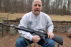 Scott Pappalardo's video shows him sawing an AR-15 assault rifle, saying he wanted to make sure it would never be used in a massacre like the one in Florida.