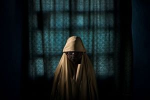 Aisha, 14, pictured in September 2017, was kidnapped by Boko Haram militants, but managed to escape.