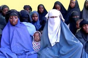 A still image taken from an undated video released by Boko Haram on Jan 15, 2018, shows at least 14 of the schoolgirls abducted from the Nigerian town of Chibok in April 2014.