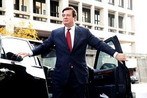 Paul Manafort, former campaign manager for US President Donald Trump, arrives for a bond hearing at US District Court in Washington on Nov 6, 2017.
