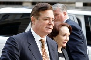 US President Donald Trump's former campaign manager Paul Manafort arriving at a hearing at the US District Court in Washington on Jan 16, 2018.