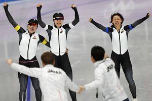 The Japanese trio of Miho Takagi, Ayano Sato and Nana Takagi set an Olympic record of 2min 53.89sec.